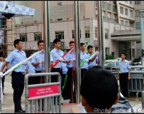 华润即将开业,提前欣赏升旗仪式>>>.......