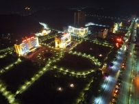 无人机航拍德庆夜景。这也将是德庆县城元宵节的夜景,全城靓起来